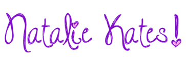Heart Purple Cursive Signature with Pink Heart Dotted I and exclamation