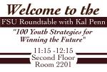 Career Center Welcome Sign- Kal Penn Roundtable