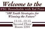 Career Center Welcome Sign- Kal Penn Roundtable