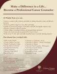 Career Counselor Program Promotional Handout