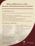 Career Counselor Program Promotional Handout