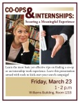 Finding co-ops and Internships Workshop Handout