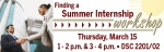 Finding a Summer Internship Workshop Web Banner