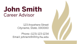 FSU Business Card Template- Horizontal with Torch