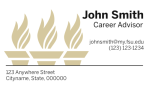 FSU Business Card Template with Torches