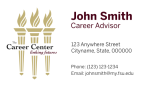 FSU Career Center- Business Card Template with Left Torches