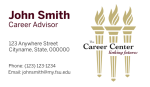 FSU Career Center- Business Card Template with Right Torches