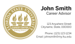 FSU Career Center- Horizontal Business Card Template with New Logo Concept