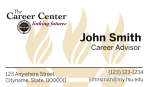 FSU Career Center- Horizontal Business Card Template with Torches