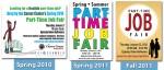 FSU Career Center- Part-Time Job Fair Brand Evolution