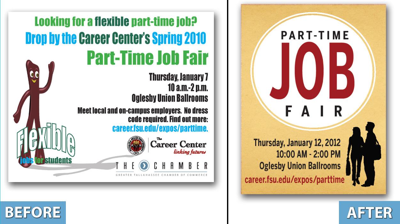 branding natalie kates fsu career center part time job fair rebranding