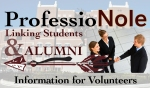 FSU Career Center- ProfessioNole Volunteer Logo