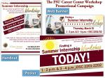 FSU Career Center- Summer Internship Workshop Campaign