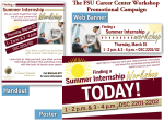 FSU Career Center- Summer Internship Workshop Campaign