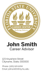 FSU Career Center- Vertical Business Card Template with New Logo Concept