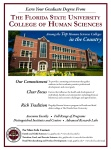 FSU Career Guide Ad Created for College of Human Sciences Graduate Programs