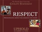 FSU Civility Statement1- Respect