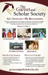 Garnet and Gold Scholar Society Poster