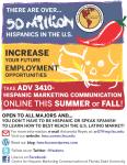 Hispanic Marketing Communication Course Poster