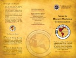 FSU Center for Hispanic Marketing Communication Informational Brochure (Front)