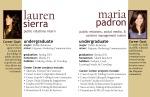 PR Intern Profiles for Lauren and Maria