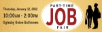 Spring 2012 Part-Time Job Fair Web Banner
