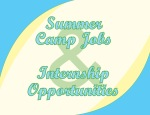 Summer Jobs and Internships Sign- Bright Version