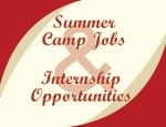 Summer Jobs and Internships Sign- Garnet and Gold