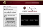 Internships.fsu.edu Homepage Mockup